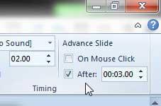 как установить время между слайдами в PowerPoint 2010