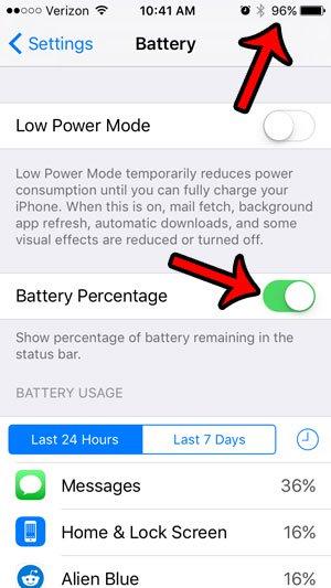 показать процент батареи iphone 5