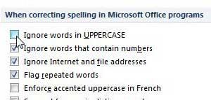 как пишется проверка прописных слов в powerpoint 2010