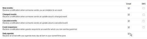 установите предпочитаемые настройки уведомлений в календаре Google