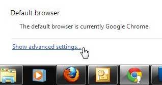 показать ссылку на дополнительные настройки в Chrome