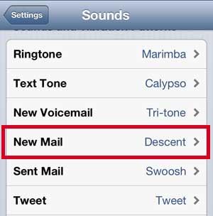 Выберите опцию Новая почта