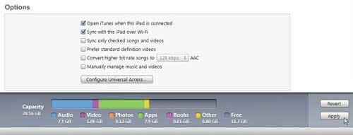 как настроить ipad для беспроводной синхронизации