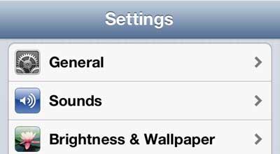 открыть меню звуков iphone 5