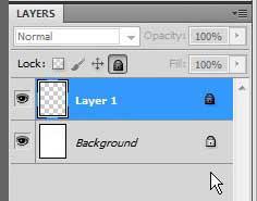пример заблокированных слоев Photoshop CS5