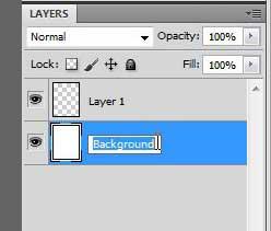 переименовать разблокированный фоновый слой