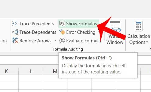 как просматривать формулы в Excel 2013