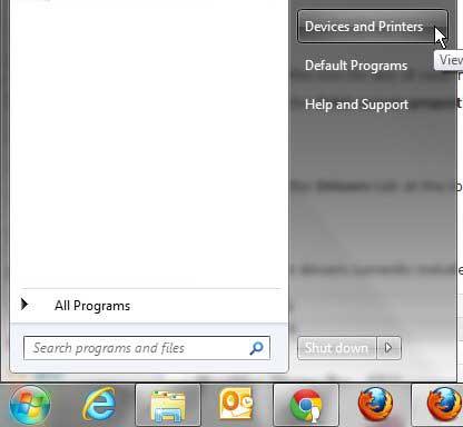 открыть меню устройств и принтеров windows 7