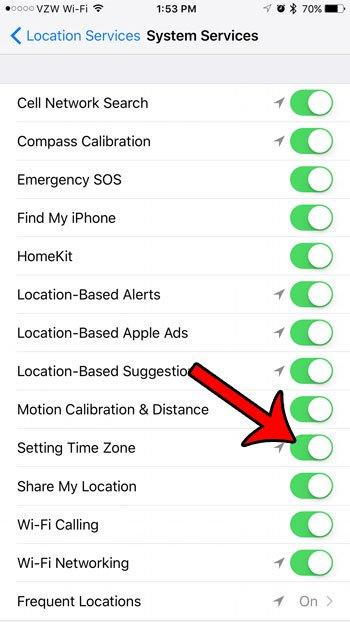 как заставить ваш iPhone автоматически обновлять часовой пояс