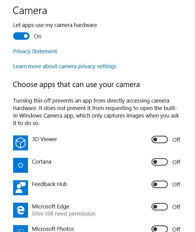 Как изменить разрешения камеры в Windows 10