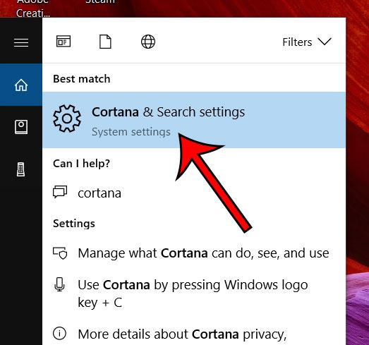 как изменить настройки Cortana в Windows 10