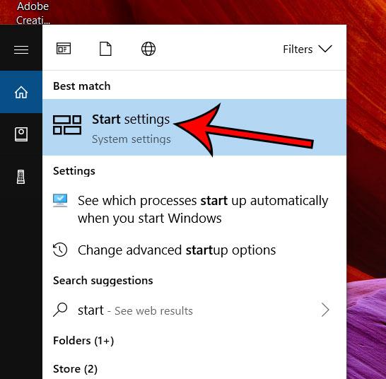 настройки запуска Windows 10