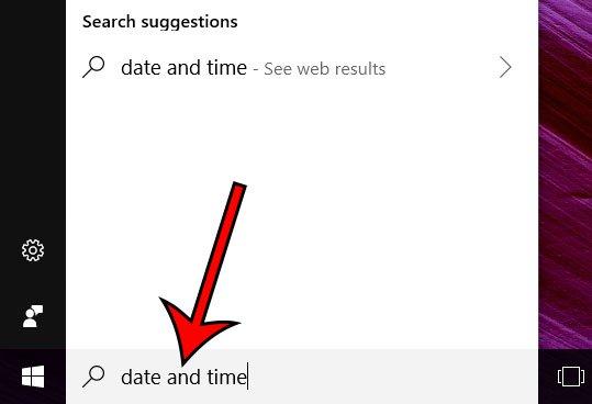 введите дату и время в поле поиска