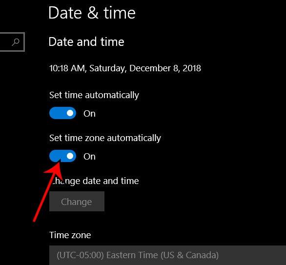 Как установить часовой пояс автоматически в Windows 10