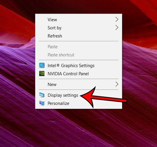 меню настроек отображения windows 10
