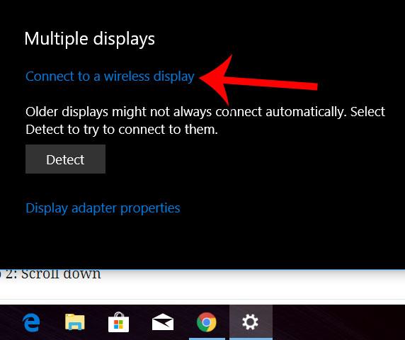 подключиться к беспроводному дисплею windows 10