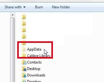 откройте папку appdata