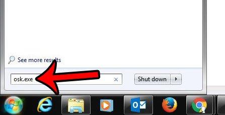 открыть экранную клавиатуру из поиска