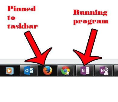 закрепленные программы против открытых программ