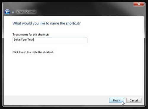 Как создать ярлык wbesite на рабочем столе в Windows 7