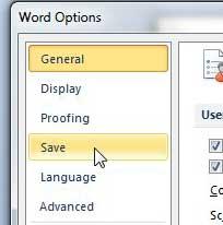 как изменить место сохранения по умолчанию в Word 2010