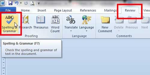 запустить ручную проверку орфографии