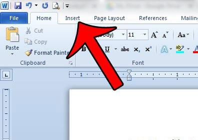 Как добавить изображение в заголовок в Word 2010