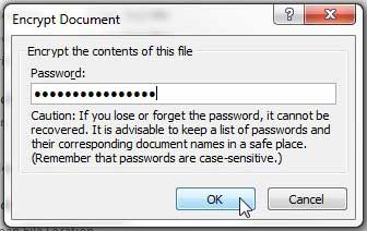 как защитить паролем файл в Word 2010
