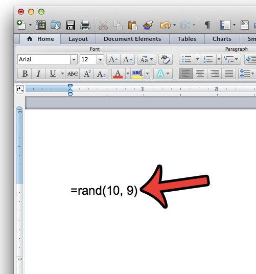 введите образец текстовой формулы в слово 2011