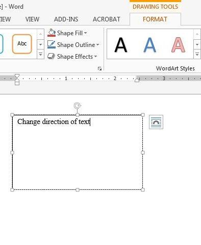 введите текст, чтобы изменить направление