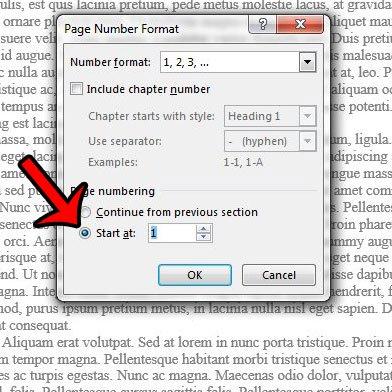 начать нумерацию страниц позже в слове 2013