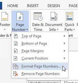 удалить номер страницы с первой страницы в слове 2013