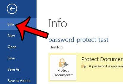 снять защиту паролем из текстового документа