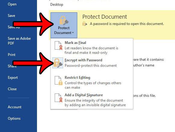 как удалить пароль из текстового документа