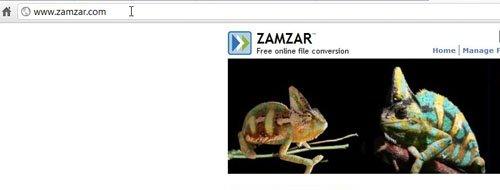 Перейдите к Zamzar.com